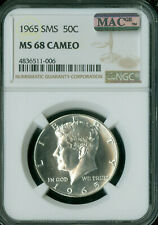 1965 KENNEDY HALF DOLLAR NGC MAC MS68 PQ CAMEO FINEST REGISTRY SPOTLESS *