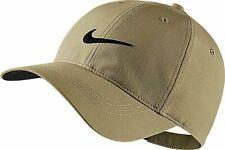 NEW! NIKE Adult Golf Tech Swoosh Cap-Khaki/Black