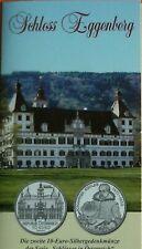 10  EURO  Silber Schloss  Eggenberg 2002 Österreich ,Stempelglanz  im Blister