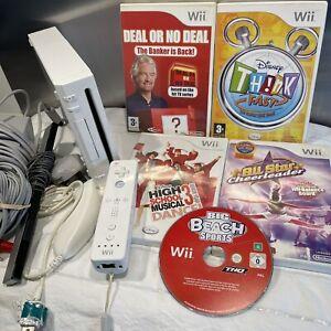 Nintendo Wii Bundle - Remote & Nunchuck - All Working ✅ 5 Fun Family Games!