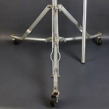 """Bogen Rolling Light Stand Foldable Lightweight Extends 121"""" Tall  28"""" Wide Base"""