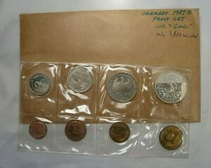 ULTRA RARE 1967-F 8 Coin PROOF Set. Germany. Scant 1600 Mintage. #102