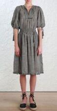 Knee Length Boho Linen Dresses for Women