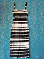 NEW American Apparel Women's Ponte Tank Dress in Deep Sea Stripes XS