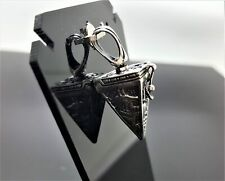 Egyptian Pyramid Locket Pendant STERLING SILVER 925 Anubis Great Sphinx Sacred E