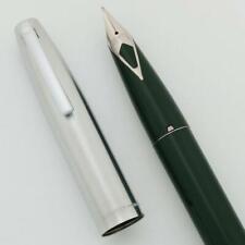 Estilográfica Sheaffer 440-Verde, medio corto Diamante Nuevo en Caja (nuevo viejo stock)