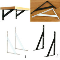 1 Pair of Heavy Duty L Shape Wall Shelf Support Bracket DIY Rack Supporter Stand