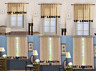 2PC HOME DECOR VOILE SHEER WINDOW ROD POCKET CURTAIN TREATMENT PANEL GOLD