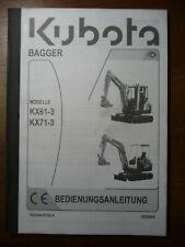 #267 Bedienungsanleitung Kubota KX 61 71 -3  service manual
