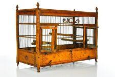 Amazing Antique German Biedermeier Carved Bird Cage Linden Wood approx. 1820-30