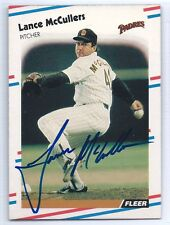 Lance McCullers signed 1988 Fleer baseball card San Diego Padres autograph