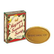 5 x MYSORE SANDAL SOAP Natural Sandalwood Oil 75g Bars - FREE SHIPPING