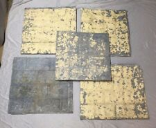 Antique 20+ Sq Ft Exterior Zinc Metal Sheets Panels Cut Stone Skirting 277-20E