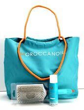 Moroccanoil Ceramic Paddle Brush Tote Beach Bag & Dry Shampoo Set