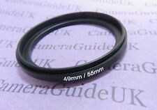 49-55mm 55mm-49mm Male to Male Double Coupling Ring reverse macro Adapter 49-55