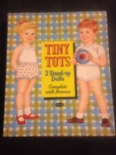 Vintage Tiny Tots 2 Stand-up Dolls Set with Box 4129:15 Whitman