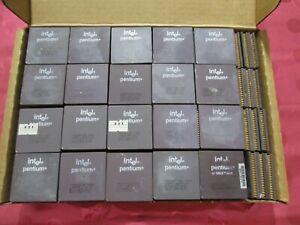 1LB Lot16 Intel Pentium A80502 CPU Processor Ceramic Gold Scrap Recovery Socket7
