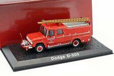 DODGE D500 Brandweer Watou fire engine - 1/72 - ATLAS