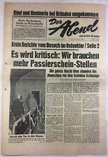 DER ABEND (20.12.1963): Es wird kritisch:Wir brauchen mehr Passierschein-Stellen