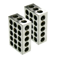 """1 Pair 1-2-3 Block Set 0.0001"""" Precision Matched Mill Machinist 123 23 Holes"""