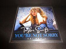 "Taylor Swift ""You're Not Sorry"" CD Single + CSI REMIX Universal Music Brazil"