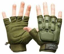 New Valken V-Tac Half Finger Paintball Airsoft Gloves - Olive - Xl/2Xl