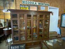 Antique 6 Door Solid Quartersawn Oak Bookcase / 3 Drawer Step Out Base