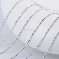 925 Sterling Silver Ladies Bead Ball Width 2.5mm Chain Necklace Long Chain Gift