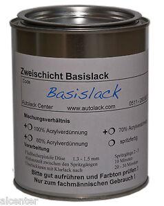Autolack 1 Liter in WUNSCHFARBE konventioneller Basislack spritzfertiger 1000 ml