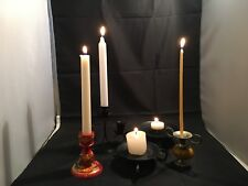 Candle Holder Collection – 5 Piece Set – Wood / Metal Craft