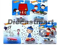2016 HOT WHEELS 1:64 POP CULTURE THE PEANUTS SET OF 5 DLB45-956E SNOOPY