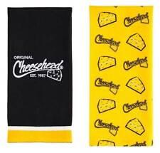 Original Cheesehead Graphic Textile Tea Towels- Set of 2, Gold & Black 4Dts5070A