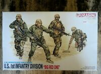 "Dragon 3015 Desert Storm U.S. 1st Infantry ""BIG RED ONE"" 4 piece Figure Set 1:35"