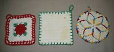 New listing 3 Vintage Crocheted Pot Holders are in good condition