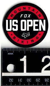 FOX MOUNTAIN BIKING DECAL Fox Racing 2 in. Round Red/Black/White Decal