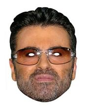 George Michael Celebrity Single 2D Card Face Mask - Singer 80's Pop Star