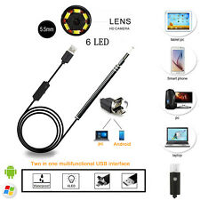 2in1 Ear Cleaning USB Endoscope 5.5mm Visual Ear Spoon Earpick Otoscope Camera