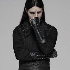 Punk Rave Gothic Fantasy Fingerlose Handschuhe - Nostromo Nieten Mesh