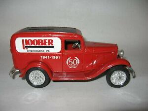"ERTL 1932 Ford Delivery Van Bank 6 1/2"" Long w/Key Hoober Intercourse PA"