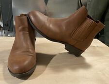 Forever 21 - Women's Brown Chelsea Slip on Booties / Boots, Size 9