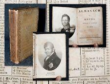 1830 Genealogie Gotha Almanach de Gotha Prince Adolphus Karl Friedrich Sachsen..