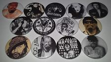 13 GG Allin Pin Button badges Punk Rock Hated Bite it and the Murder Junkies