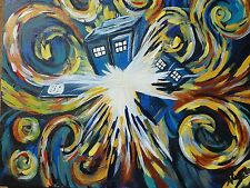 Dr. Who Exploding T.A.R.D.I.S. print by Ashlee Cipolla