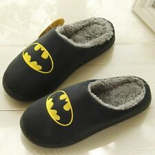 Christmas Slippers Super Hero Batman Superman Fur Flock Short Plush Indoor Shoes