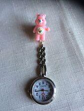 Care Bear Pink Handmade Nurse / Vet Nurse / Student Fob Watch.