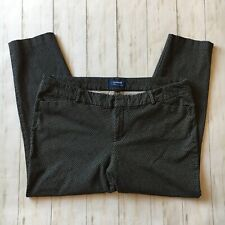 Old Navy Womens Size 18 Regular Pixie Mid Rise Black & White Cropped Ankle Pants