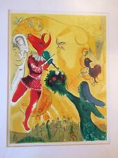 Marc Chagall Original Lithograph La Dance 1951 Surrealism Modern Folk Art Signed