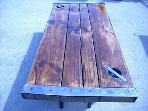 HATCH COVER antique ships,refinished, with legs