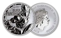 2018 Tuvalu 1 Ounce oz 999 Fine Silver Coin Marvel Black Panther TChalla Bullion