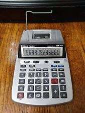 Canon P23-Dh V Printing Desktop Calculator 12 Digit with Calendar & Clock